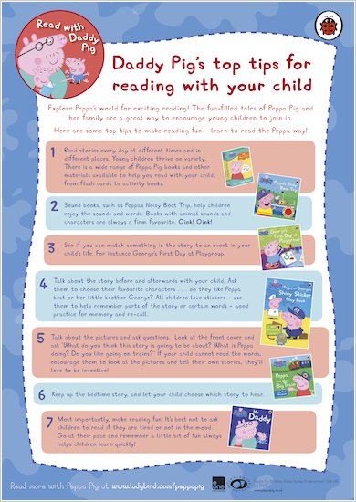 Daddy Pig's Top Reading Tips
