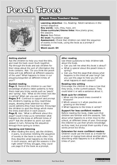 Peach Trees - Teachers' Notes