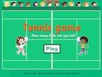 Tennis fun game