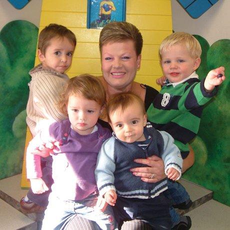 Sue Smith with her children