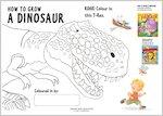 Colour a roaring T-Rex (1 page)
