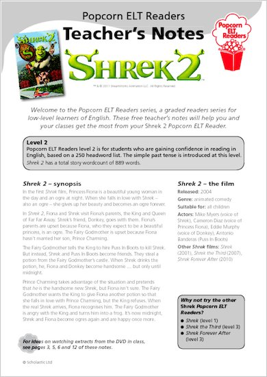 Shrek 2 - Teacher's Notes