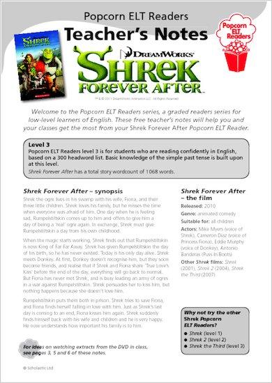 Shrek Forever After - Teacher's Notes