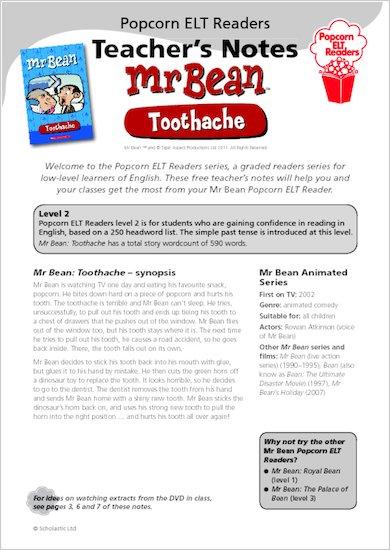 Mr Bean: Toothache - Teacher's Notes