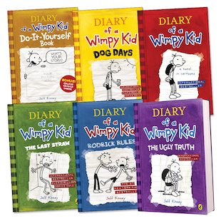 Diary of a Wimpy Kid Pack x 6