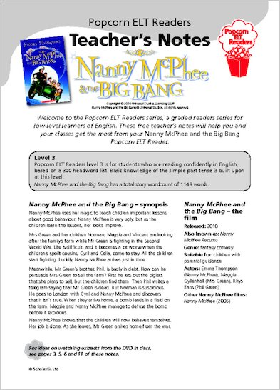 Nanny McPhee and the Big Bang - Teacher's Notes