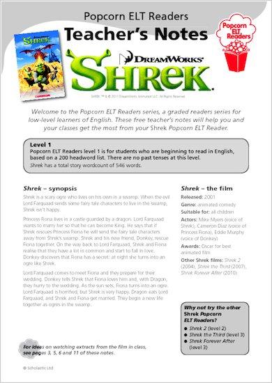Shrek 1 - Teacher's Notes