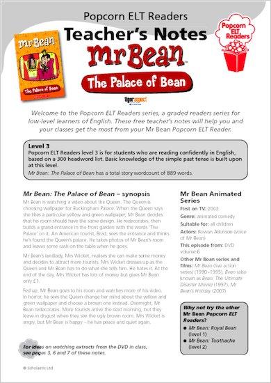 Mr Bean: The Palace of Bean - Teacher's Notes