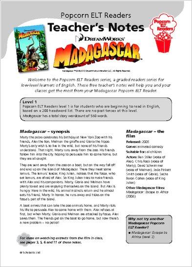 Madagascar 1 - Teacher's Notes