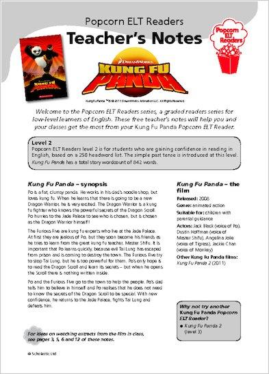 Kung Fu Panda - Teacher's Notes
