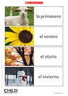 Spanish 'seasons' flashcards