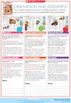 Observation and assessment bookmarks for the 'Fun on the farm' theme (1 page)