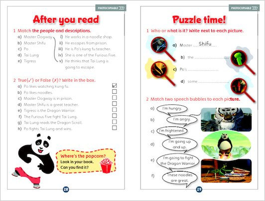 Kung Fu Panda - Sample Activities