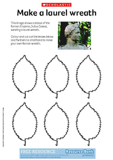 Click To Download This Activity Sheet Contains Instructions And Templates For Making A Roman Laurel Wreath