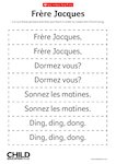Frère Jacques - French song lyrics (1 page)