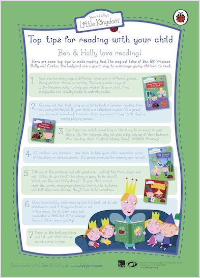 Ben and Holly Reading Tips