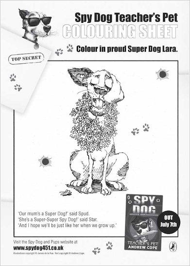 Spy Dog Colouring