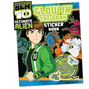 Ben 10 Ultimate Alien: Glow in the Dark Sticker Book