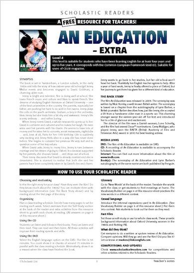 An Education: Resource Sheet & Answers