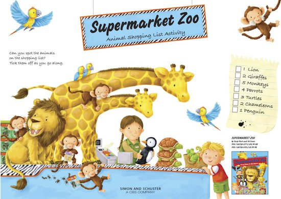 Supermarket Zoo activity pack