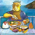 The Lighthouse Keeper eating his lunch