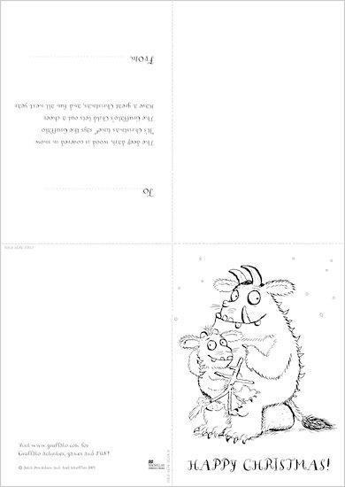 Make a Gruffalo Christmas Card