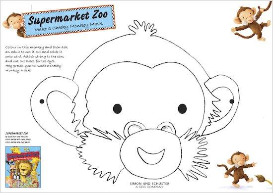 Make a Supermarket Zoo monkey mask!