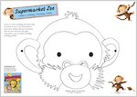 Make a Supermarket Zoo monkey mask!