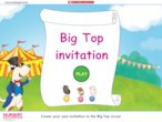 Big top invitation