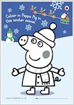 Peppa Pig Snowy Colouring