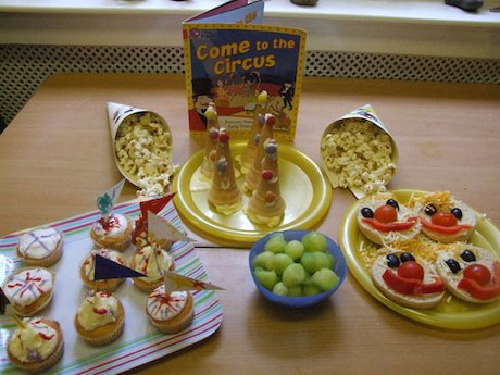 Show time snacks selection