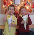 Children enjoying circus popcorn
