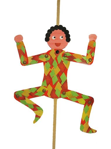 Harlequin puppet