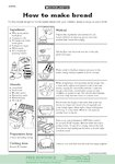 How to make bread (1 page)