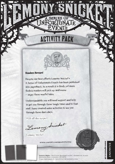 Lemony Snicket Activity Pack
