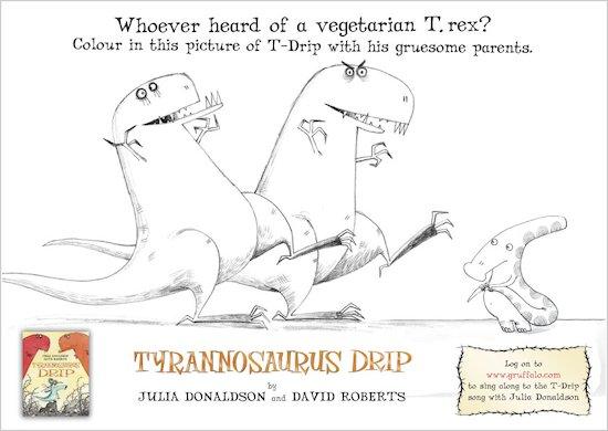 Tyrannosaurus Drip Colouring