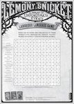 Lemony Snicket Word Search