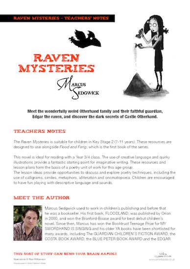 Raven Mysteries Teachers Notes