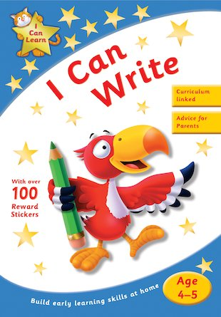I Can Learn: I Can Write (Ages 4-5)