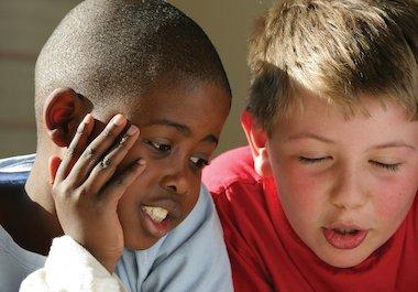Boys talking
