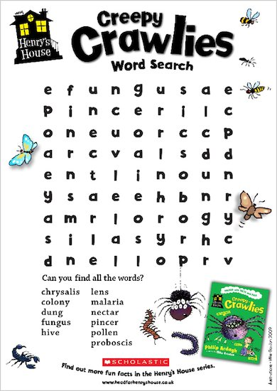 Henry's House word search