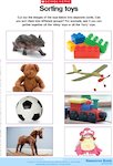 Sorting toys (1 page)