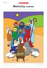 Nativity scene in colour