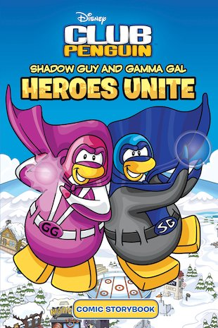 Club Penguin: Shadow Guy and Gamma Gal: Heroes Unite