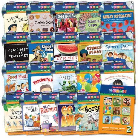 Maths Readers Year 2: Easy-Buy 120 Books and 20 CD Packs.