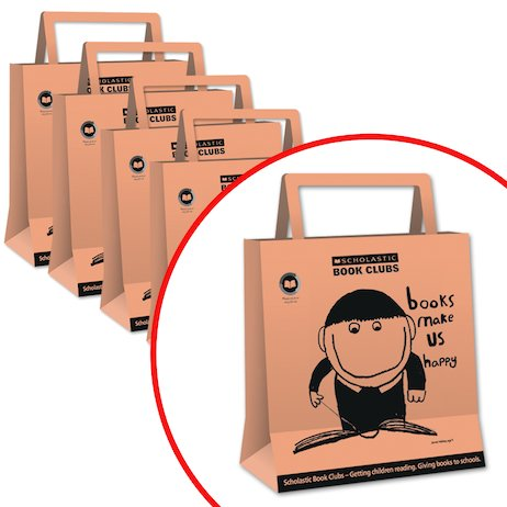 Books Make Us Happy Paper Bags: Pack of 25