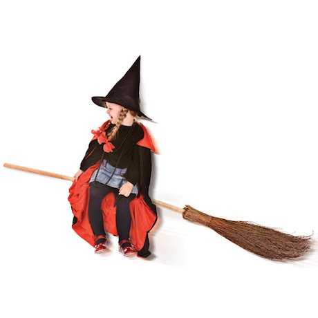 Girl on a broomstick