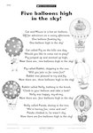 Five balloons high in the sky! (1 page)