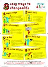 Healthy eating – healthy tips poster