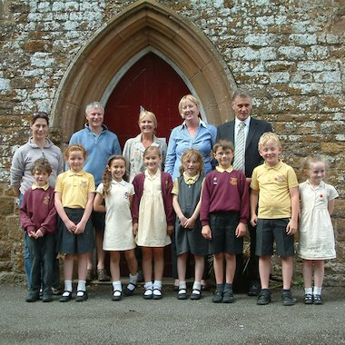 Teachers and children from The Priors School, Warwickshire